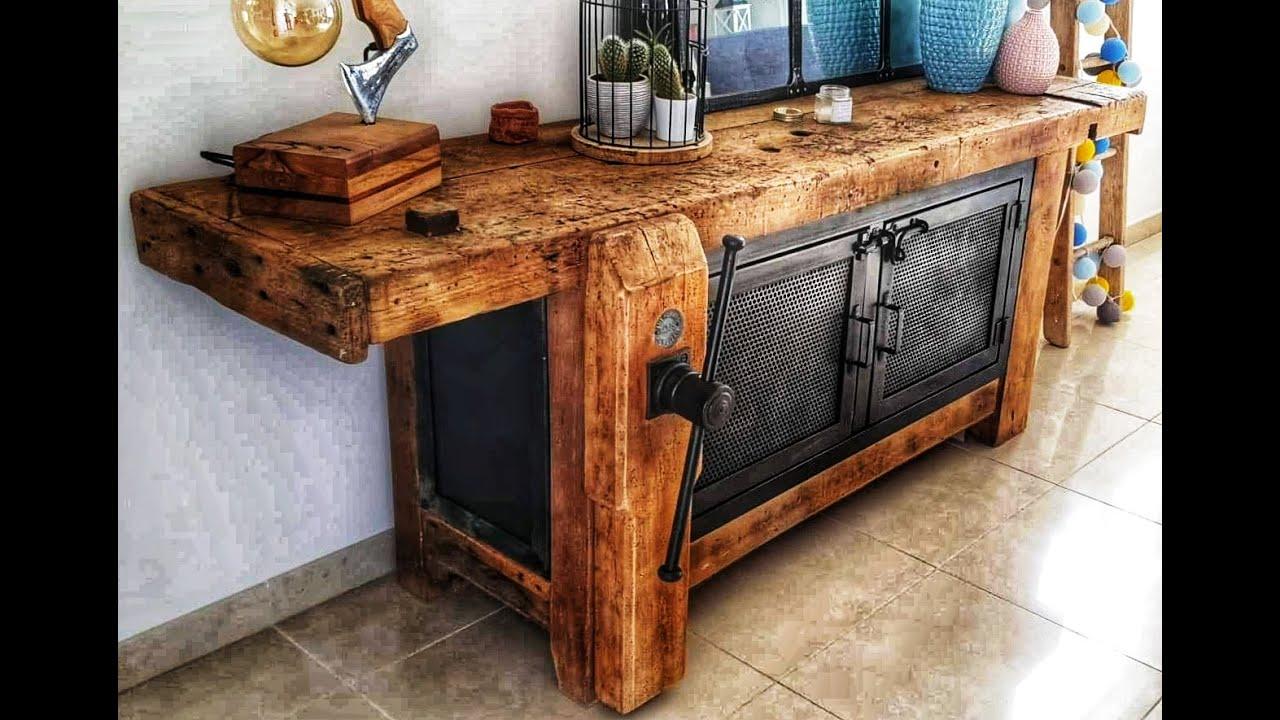 fabriquer un meuble industriel avec un ancien etabli diy