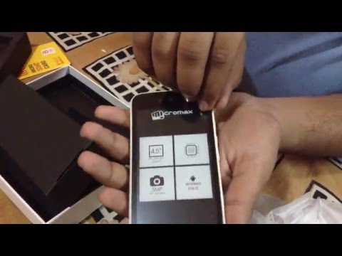 Micromax canvas a1 (white) unboxing