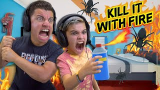 BURN IT DOWN (KILL IT WITH FIRE) A SPIDER HORROR GAME THATS ACTUALLY SCARY Gameplay and Skit
