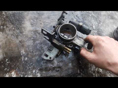 Чистка дроссельной заслонки и клапана ЕГР Opel vectra B