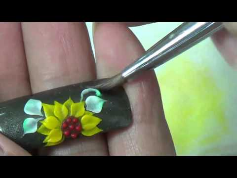 dạy học vẽ móng nghệ thuật tại NailViet, hướng dẫn đắp hoa hướng dương trên móng