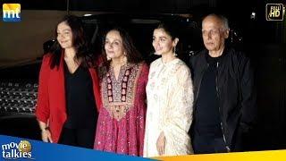 Alia Bhatt, Pooja Bhatt, Mahesh Bhatt & Soni Razdan @ No Fathers In Kashmir Movie Special Screening