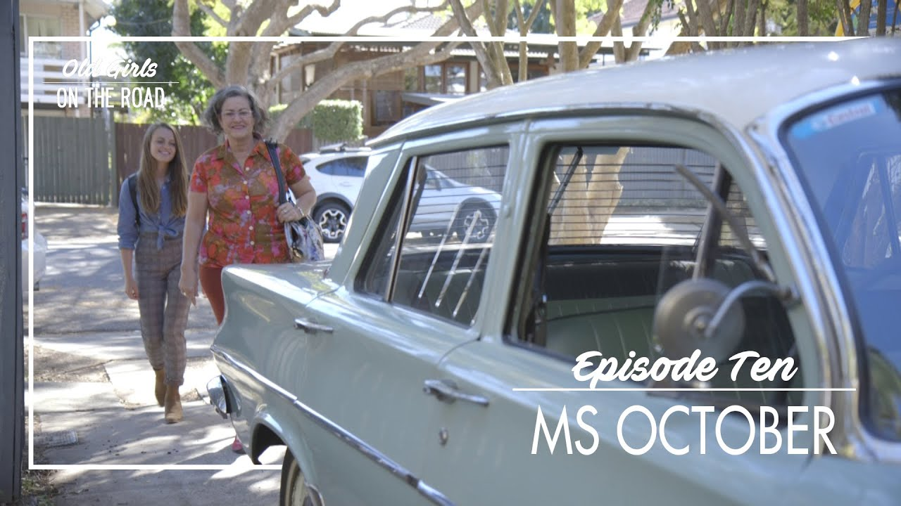 Old Girls on The Road Calendar Series - Ms October, Belinda and her '62 EJ Holden