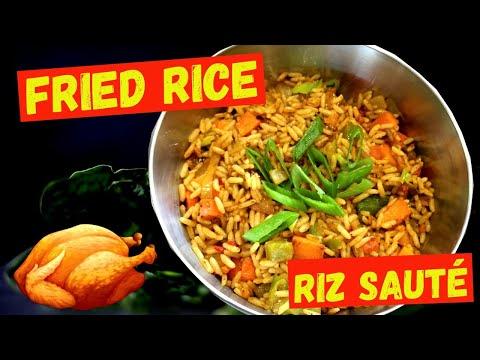 recipe-fried-rice-for-chicken---recette-riz-sauté-aux-légumes-pour-poulet