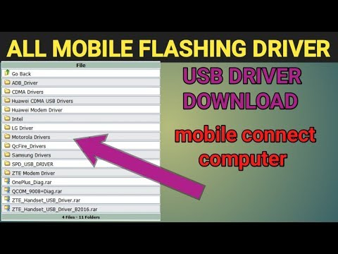 All Mobile Flashing Usb Driver Download / PC Connect Mobile Install Usb Driver