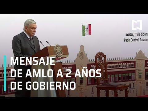 En vivo: Mensaje de AMLO a 2 años de gobierno