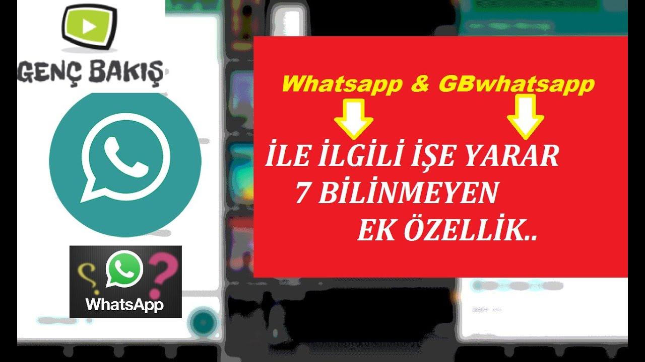Whatsapp & GB whatsapp ile İlgili İŞE YARAR 7 BİLİNMEYEN EK Özellik