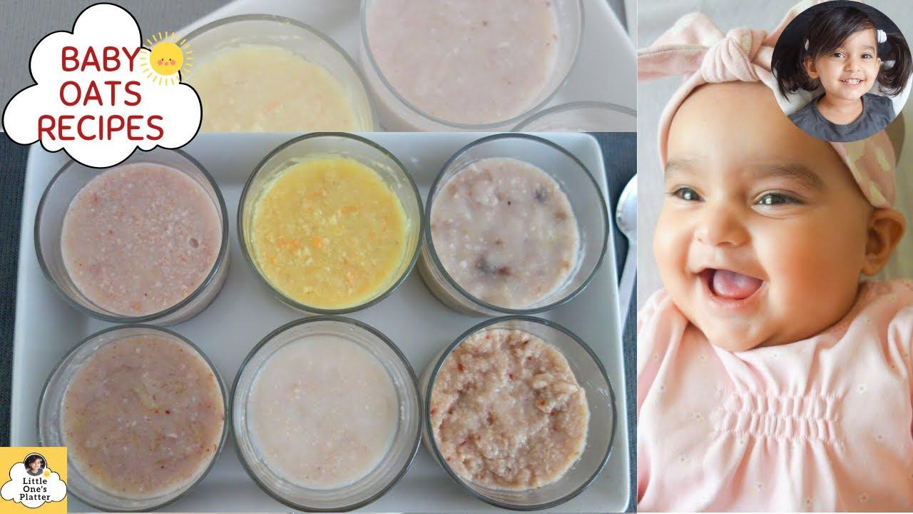 Quick Oats Baby food Recipe 6 Ways || Baby breakfast/lunch/dinner