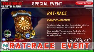 Transformers Earth Wars: RAT-RACE (Event Recap/Prime Core Pull)