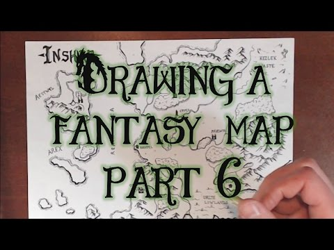 Drawing a Fantasy Map (part 6) - Unique Terrain & Finale