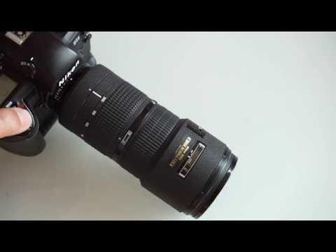 Nikon 80-200mm f/2.8 AF-D ED mounted on a Nikon D1X