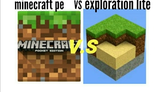 Minecraft PE  VS Exploration lite