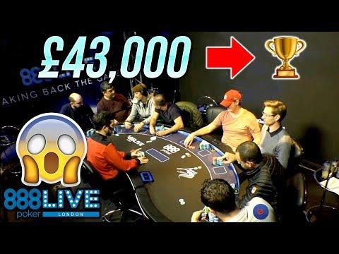 The Longest Final Table In UK Poker History! (888Poker Live London)