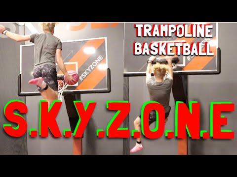 Game Of 'S.K.Y.Z.O.N.E' Trampoline Basketball Challenge!