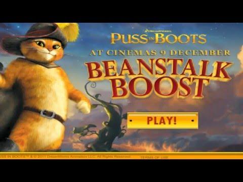 Puss in boots - кот в сапогах, игра прыгать.