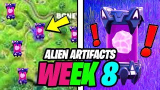 All Week 8 ALIEN ARTIFACTS Locations (ALL 5 Alien Artifact Locations)