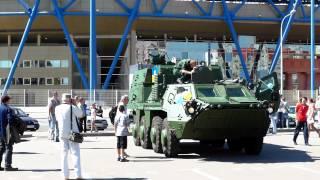 Разные модификации БТР-4 на выставке в Харькове на День Независимости Украины