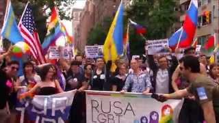 Гей-парад в Нью-Йорке (Gay Pride, New York 2015 w/RUSA LGBT)