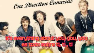 One Direction - Everything About You Lyrics English & Spanish (HD)