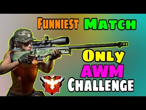 AWM Only Challenge in Rank Match - Garena free Fire - Desi Gamers