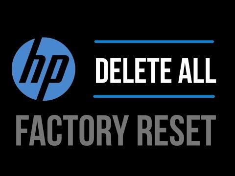 How to Factory Reset ( Delete All info) HP computer/laptop | 2019