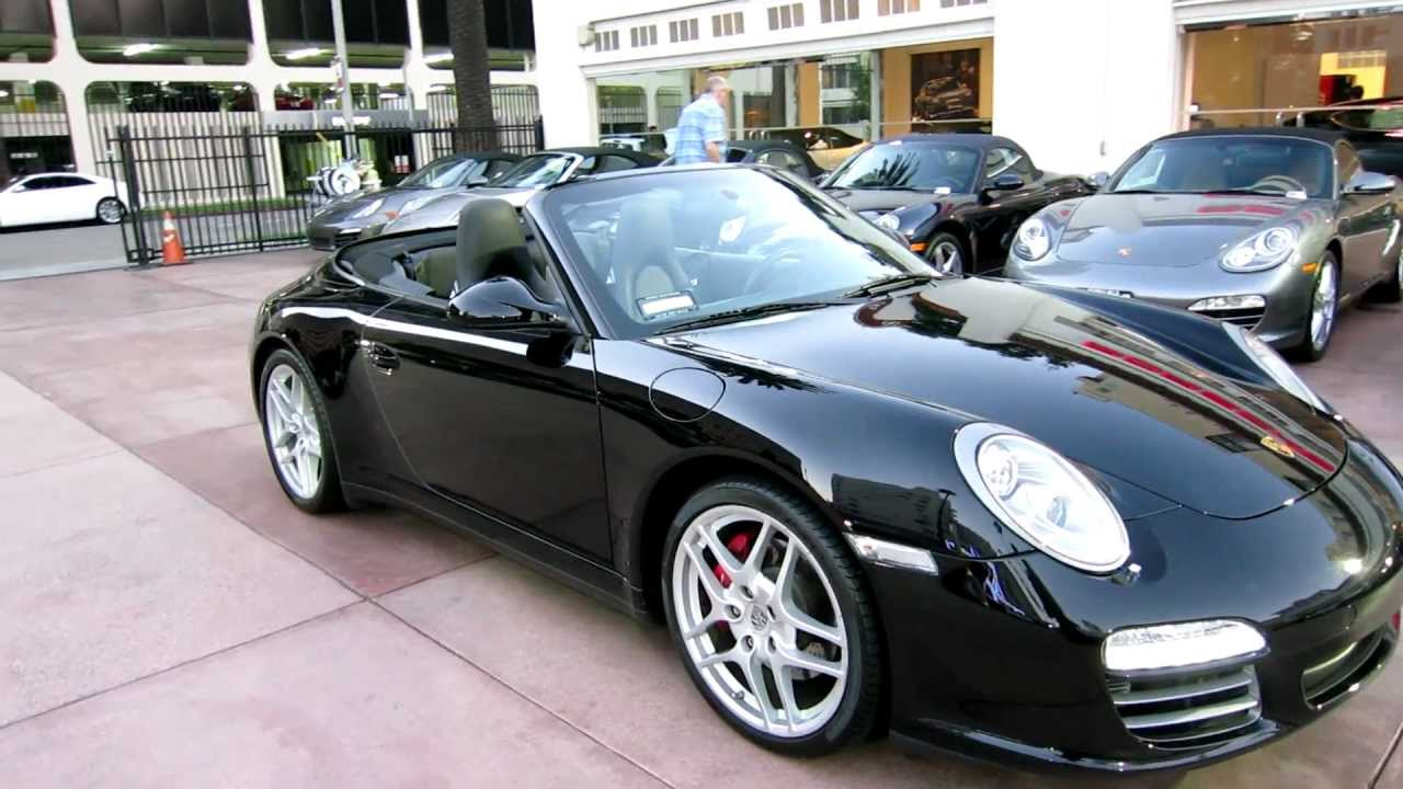 Worksheet. 6500 mile 2010 Porsche 911 Carrera 4S Cabriolet triple black PDK