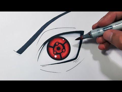 How To Draw Sasuke's Eternal Mangekyou Sharingan - Step By ... |Itachi Mangekyou Sharingan Drawing