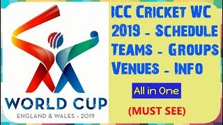 Video All about ICC Cricket World Cup 2019 | Schedule | Teams | Groups | Venues | Interesting Info download MP3, 3GP, MP4, WEBM, AVI, FLV November 2017