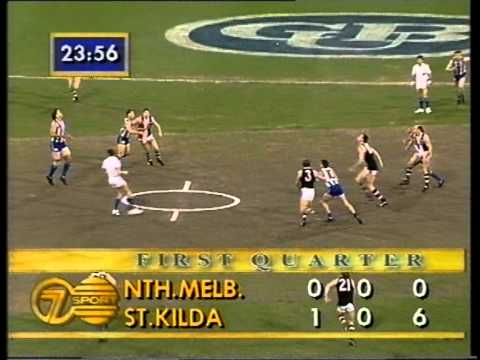 Round 17, 1993, North Melbourne v St. Kilda first few minutes