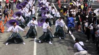 舞幻 能登よさこい祭り本祭2日目06152014 県道通り
