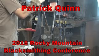 Patrick Quinn sculpture demonstration - 2018 Rocky Mountain Blacksmithing conference