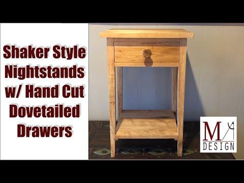 Building Shaker Style Nightstands // Woodworking DIY