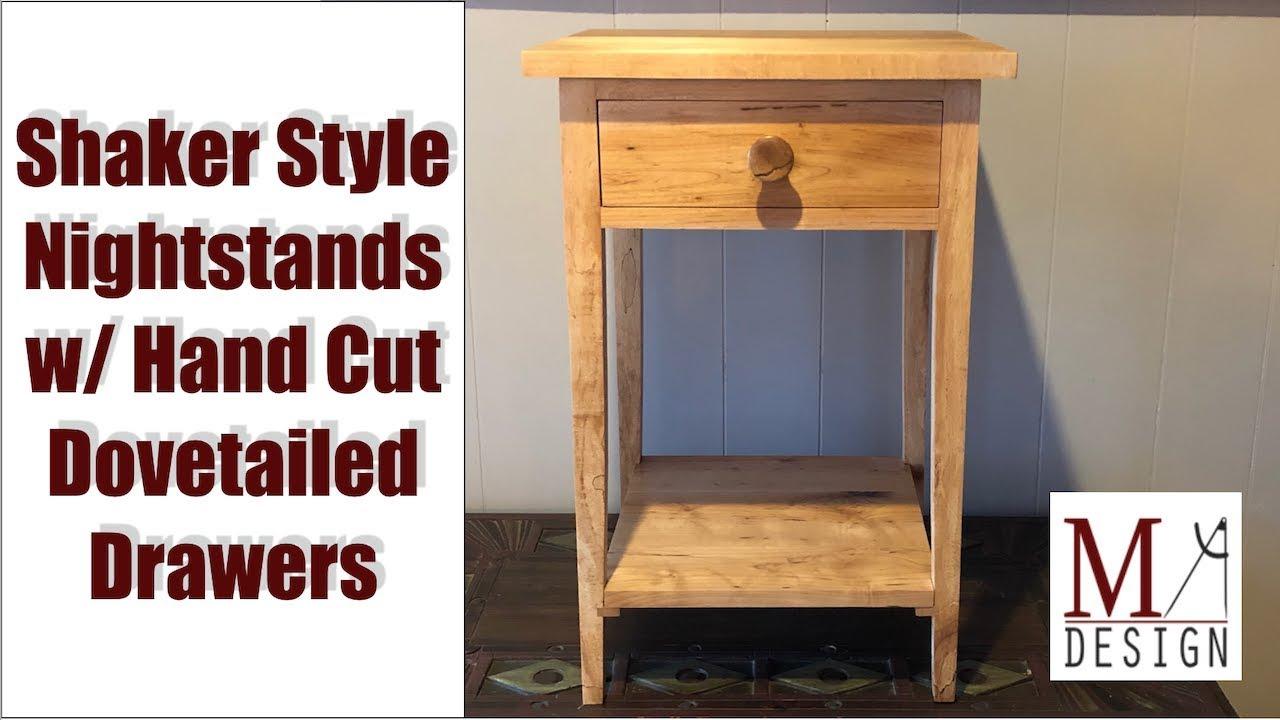 building shaker style nightstands woodworking diy