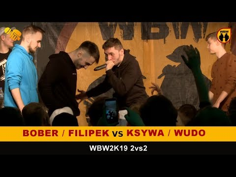 Bober + Filipek vs Ksywa + Wudo 🎤WBW2K19🎤 2vs2 (FINAŁ) Freestyle Battle