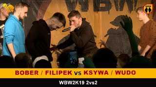 Bober/Filipek 🆚 Wudo/Ksywa 🎤 WBW 2019 2vs2 (freestyle rap battle) Finał