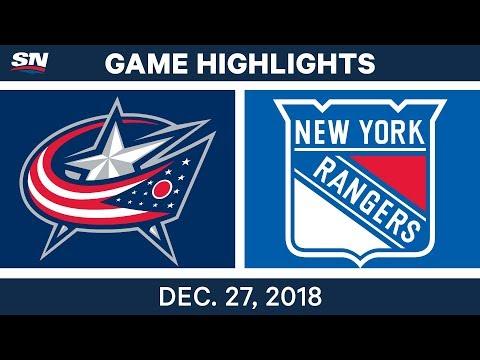 NHL Highlights | Blue Jackets vs. Rangers - Dec 27, 2018