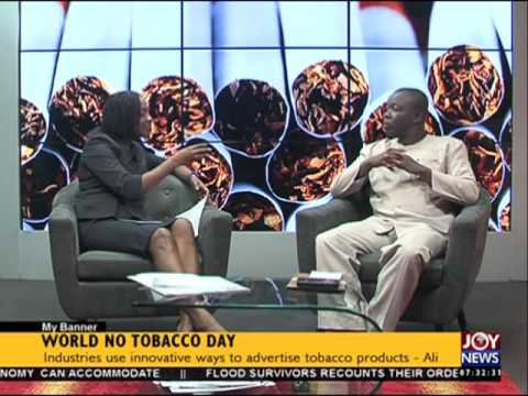 World no tobacco day - My Banner on Joy News (31-5-16)