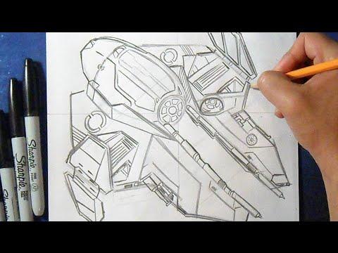 Cómo Dibujar Una Nave De Star Wars How To Draw Star Wars Youtube