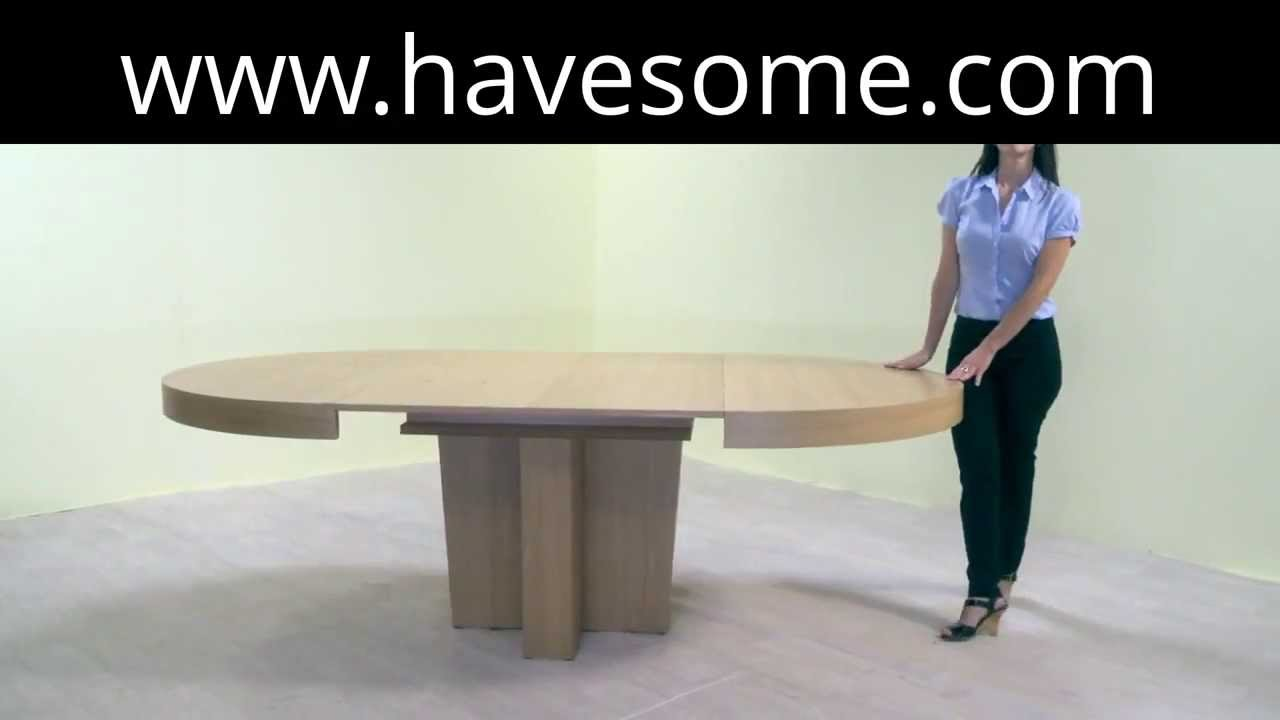 Round Extendable Dining Table   YouTube