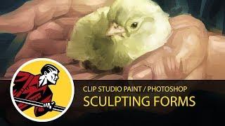 Sculpting Forms - Clip Studio Paint