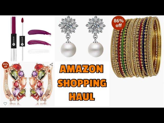Beautiful Jewellery Haul / Amazon Haul / Makeup Products / Online Shopping #prititrendz
