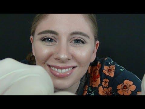 [ASMR] Dermatologist Exam Role Play-Latex Glove Sounds (English)