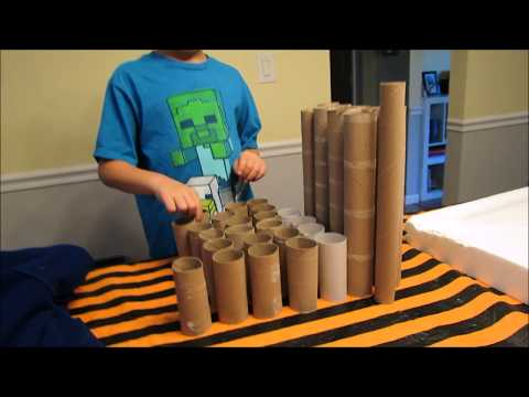 Chase Man Makes A Marble Run Out of Household Items - Paper  Towels and Toilet Paper Rolls