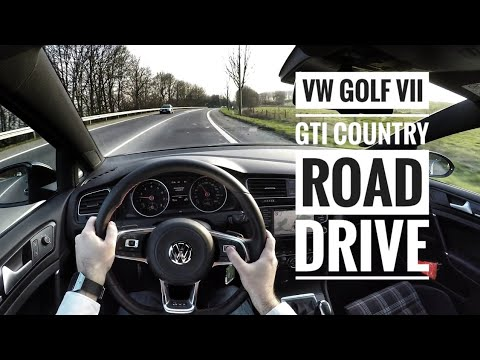VW Golf VII GTI Performance (2016) - POV Country Road Drive