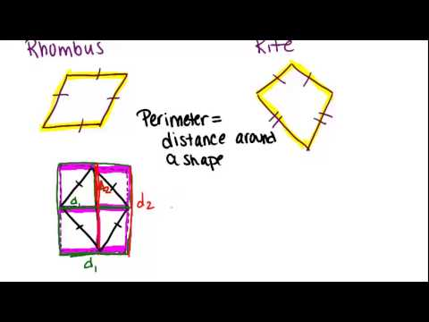 Area and Perimeter of Rhombuses and Kites: Lesson ... | 480 x 360 jpeg 11kB