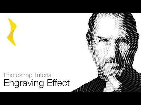 [UPDATED LINK] Photoshop Tutorial -  Engraved Effect (Engraving Lines Action) Freebie