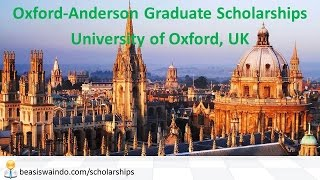 UK - University of Oxford Anderson Graduate Scholarship #20150123