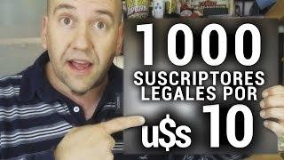 1000 suscriptores legales con 10 dólares
