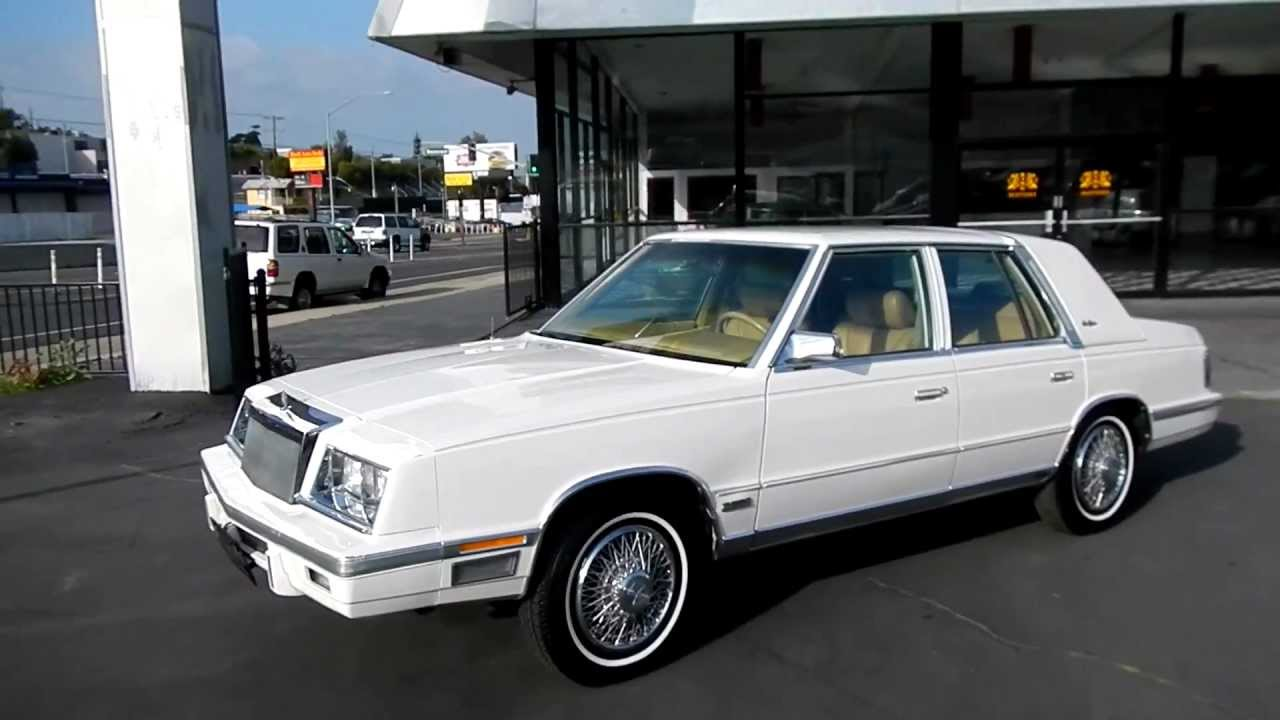 1987 Chrysler New Yorker 1 Owner Car Guy No Vat Export Made In 1986