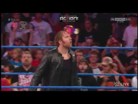 Dean Ambrose Entrance WWE CHAMPION SmackDown Live